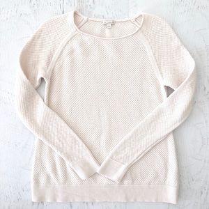 Women's Ivory Cream Cotton Gap Sweater Large